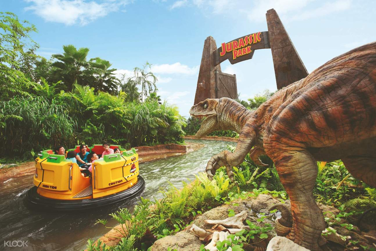 Jurassic Park-themed water ride in Universal Studios Singapore™